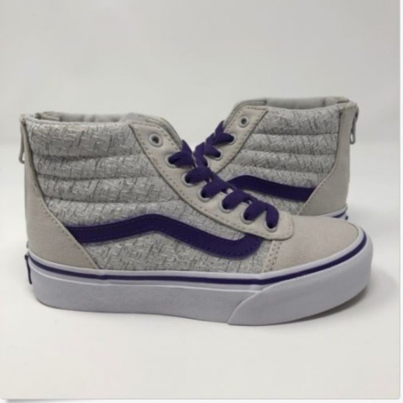 30910906c5e Vans Girls Youth Size 13 Ward Hi Top Zip Gray NEW